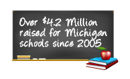 Over 4.2 million dollars raised for Michigan schools since 2005